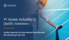 PV Module Reliability & Quality Assurance